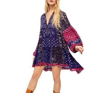 FREE PEOPLE Shibory Tunic Dress